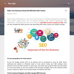 Make Your Business Stand Out With Best SEO Tactics