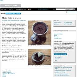 Make Cake in a Mug