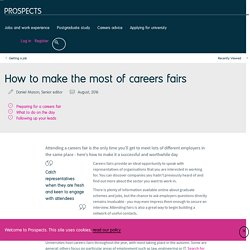 How to make the most of careers fairs