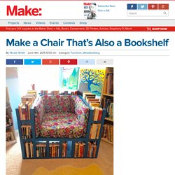 Make a Chair that's Also a Bookshelf — Furniture