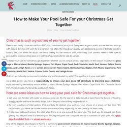 How to Make Your Pool Safe For your Christmas Get Together in FL