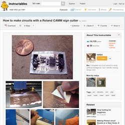 How to make circuits with a Roland CAMM sign cutter