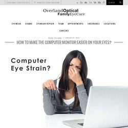 How to Make the Computer Monitor Easier on Your Eyes?