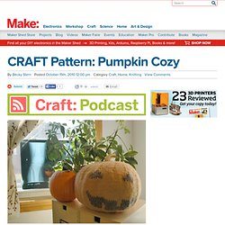 blog : CRAFT Pattern: Pumpkin Cozy