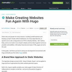 Make Creating Websites Fun Again With Hugo