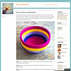 How to make a crochet bowl