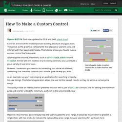 How To Make a Custom Control - Ray Wenderlich