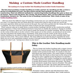 Make Custom Leather Handbag, how to