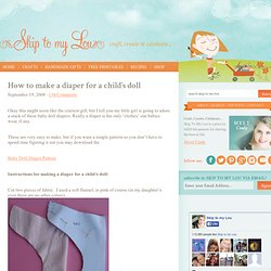 How to make a diaper for a child's doll