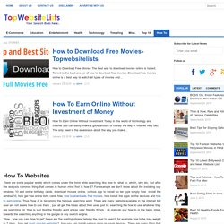 How To Do, Make and Downloads - TopWebsiteLists
