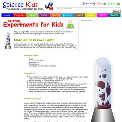 How to Make an Easy Lava Lamp