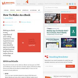 How To Make An eBook - Smashing Magazine