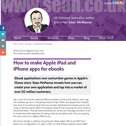 How to make ebooks apps for the Apple iPad and iPhone