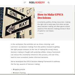How to Make EPICS Decisions - NOBL Academy