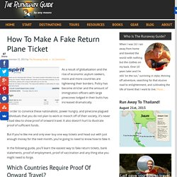 How To Make A Fake Return Plane Ticket