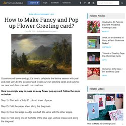 How to Make Fancy and Pop up Flower Greeting card?