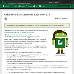 Make Your First Android App: Part 1/3