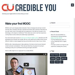 Make your first MOOC