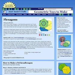 How to Make a Flexagon - Geometric Toys to Make
