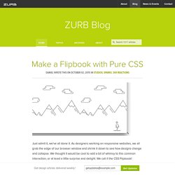 Make a Flipbook with Pure CSS