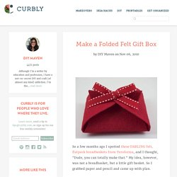 Make a Folded Felt Gift Box