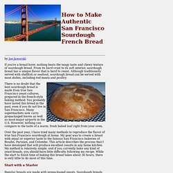 How to Make San Francisco Sourdough Bread