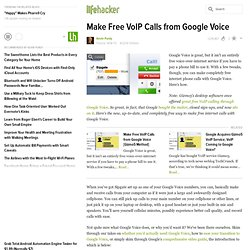 Make Free VoIP Calls from Google Voice