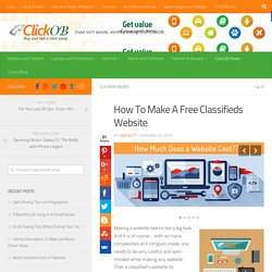 How To Make A Free Classifieds Website