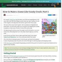 How to Make a Game Like Candy Crush: Part 1