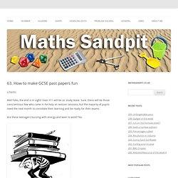 maths sandpit