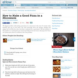 How to Make a Good Pizza in a Microwave