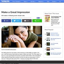 Make a Great Impression