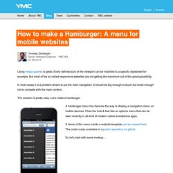 How to make a Hamburger: A menu for mobile websites