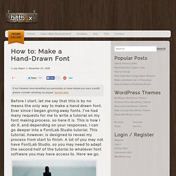 How to: Make a Hand-Drawn Font | BittBox