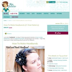 How-To Make Headbands {21 Free Patterns