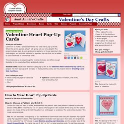 How to Make a Heart Pop-Up Card - Valentine's Day Crafts