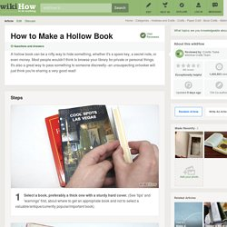 How to Make a Hollow Book