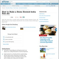 How to brew an India Pale Ale (IPA)