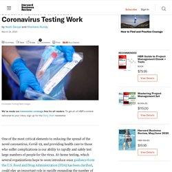 How to Make At-Home Coronavirus Testing Work