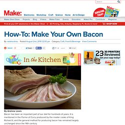 blog : How-To: Make Your Own Bacon