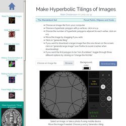 Make Hyperbolic Tilings of Images