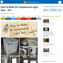 How to Make A Inexpensive Light Tent