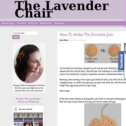 How To Make The Invisible Join - The Lavender Chair