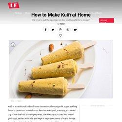 Make Kulfi at Home