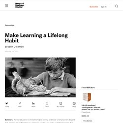 Make Learning a Lifelong Habit