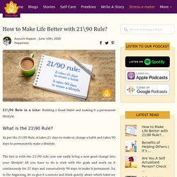 How to Make Life Better with 2190 Rule?