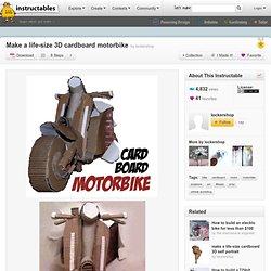 Make A Life-Size 3D Cardboard Motorbike