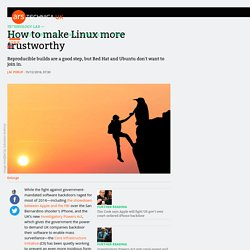 How to make Linux more trustworthy