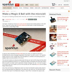 Make a Magic 8 Ball with the micro:bit