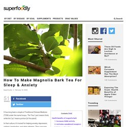 How To Make Magnolia Bark Tea For Sleep & Anxiety